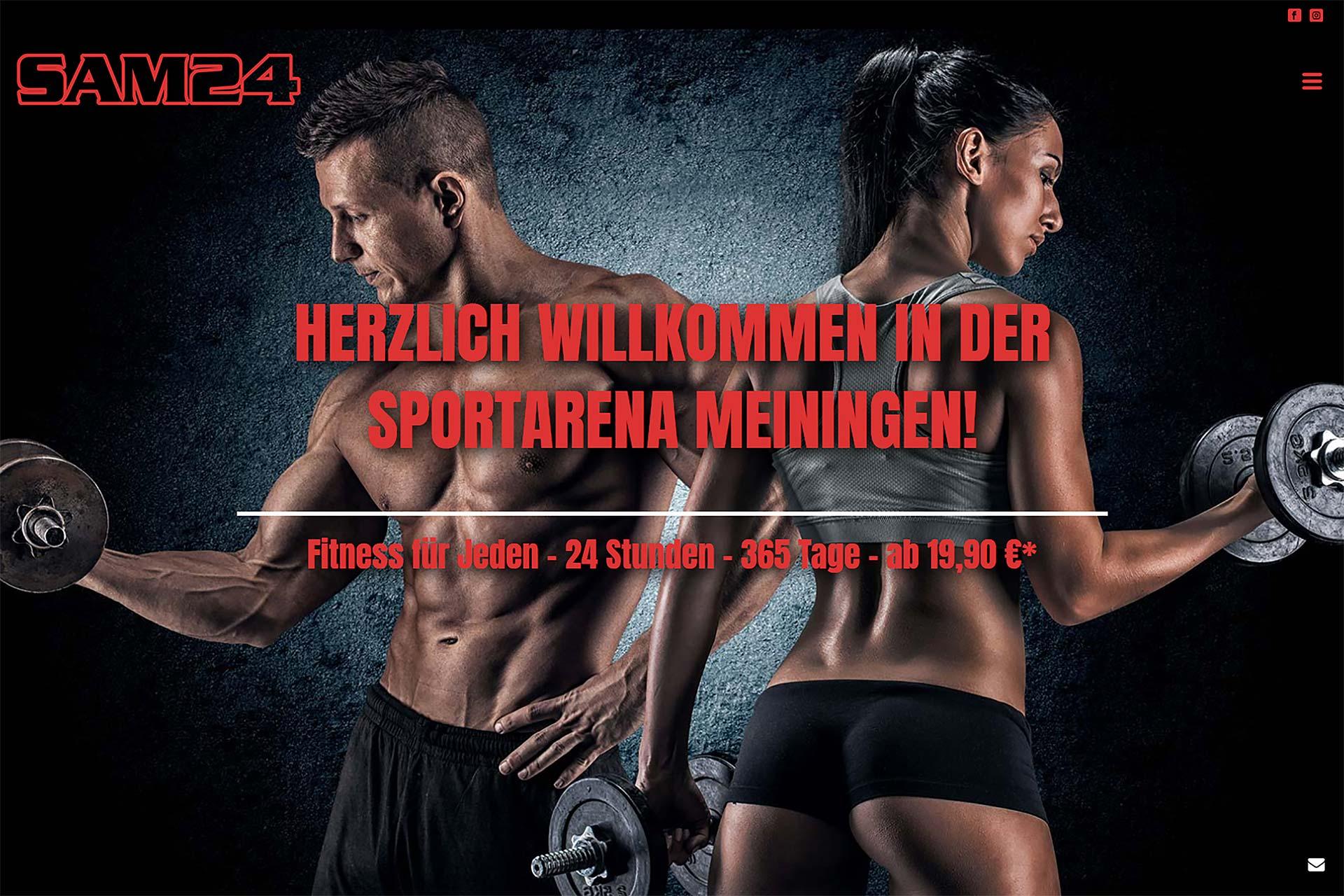 Oktober 2018 - Die neue Website der Sportarena Meiningen / der SAM24 GmbH
