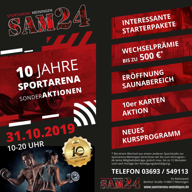 10 Jahre Sportarena Meiningen SAM24